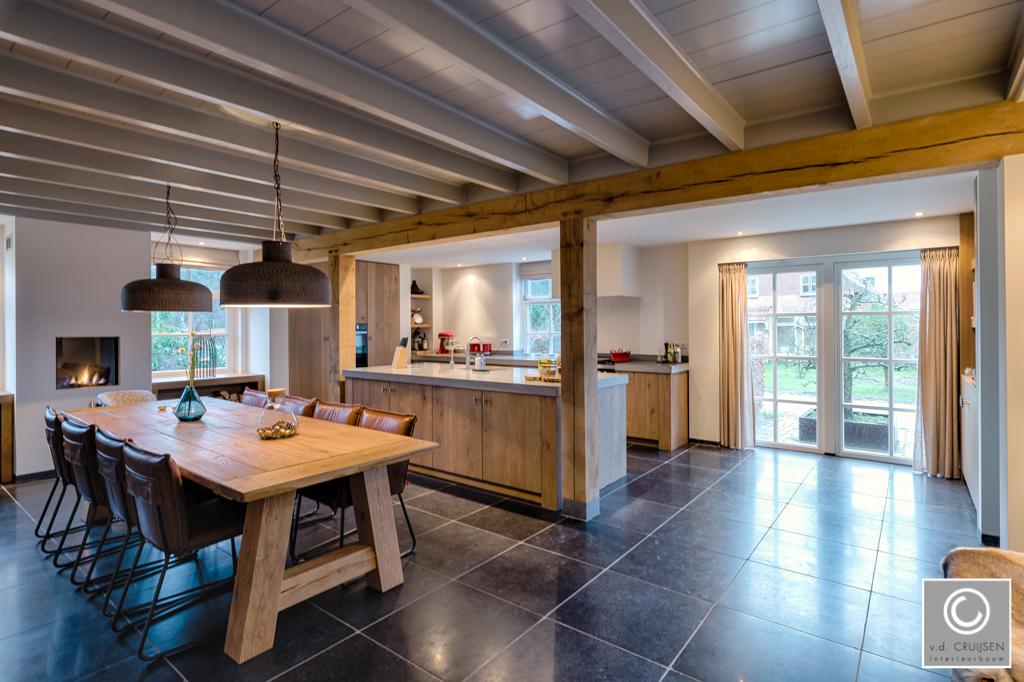 Keuken in moderne woonboerderij u van der cruijsen interieurbouw
